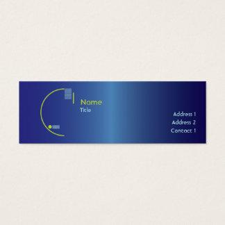 Cartão De Visitas Mini Inclinação azul - magro