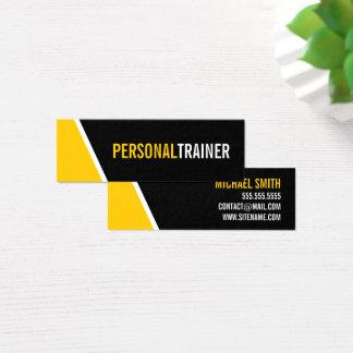 Cartão De Visitas Mini Instrutor pessoal corajoso da cor preta e feita