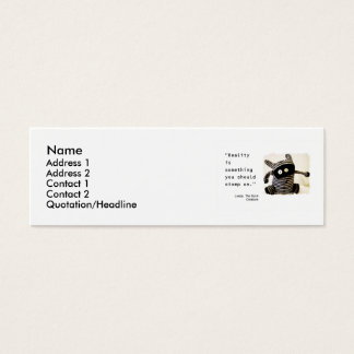 Cartão De Visitas Mini Introduza sua atitude!