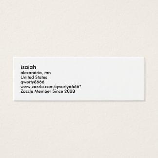 Cartão De Visitas Mini isaiah, Alexandria, manganês, os Estados Unidos,