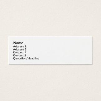 Cartão De Visitas Mini Jane lisa