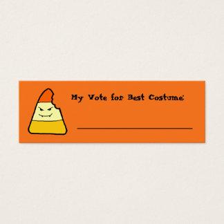 Cartão De Visitas Mini Jogos do Dia das Bruxas do milho de doces que