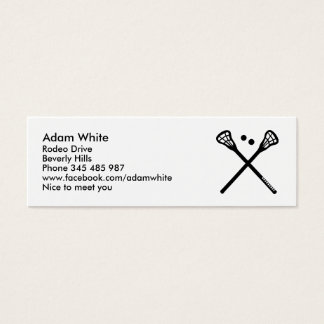 Cartão De Visitas Mini Lacrosse