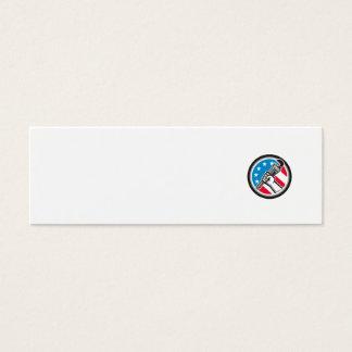 Cartão De Visitas Mini Lado Circ angular da bandeira dos EUA da chave de