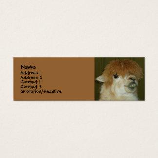 Cartão De Visitas Mini Lama engraçado
