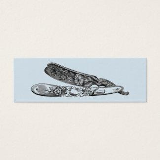 Cartão De Visitas Mini Lâmina de prata do vintage