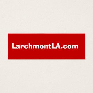 Cartão De Visitas Mini LarchmontLA.com