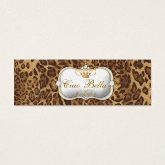 Cartão De Visitas Mini leopardo de 311-Ciao Bella
