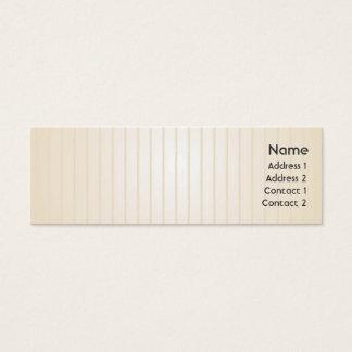 Cartão De Visitas Mini Linhas amarelas - magros