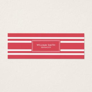 Cartão De Visitas Mini Linhas vermelhas macias elegantes profissionais