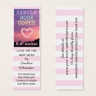 Cartão De Visitas Mini Listras romances do marcador da promoção do autor