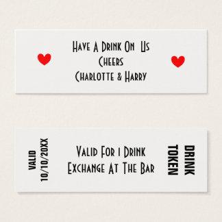 Cartão De Visitas Mini Livre o símbolo Personallized das bebidas