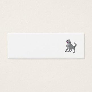 Cartão De Visitas Mini Lobo de madeira que guardara o desenho da flor do