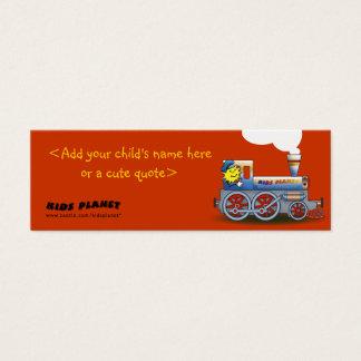 Cartão De Visitas Mini Locomotiva delével - marcador para miúdos