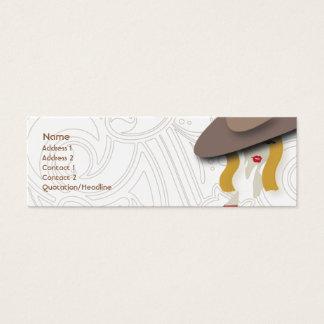 Cartão De Visitas Mini Louro - magro