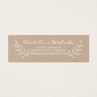 Cartão De Visitas Mini Louros rústicos que Wedding o Web site