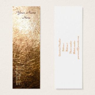 Cartão De Visitas Mini Luz 001 do ouro