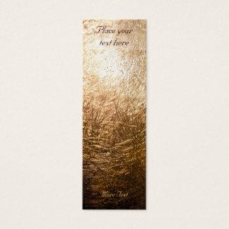 Cartão De Visitas Mini Luz 001 do ouro - marcador