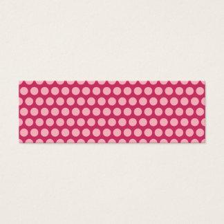 Cartão De Visitas Mini Luz - bolinhas cor-de-rosa