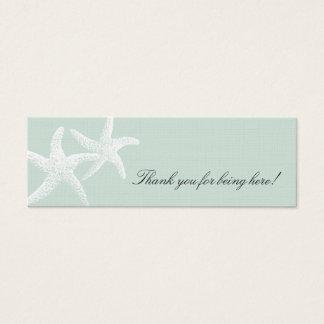 Cartão De Visitas Mini Luz da paixão da estrela do mar - o favor magro