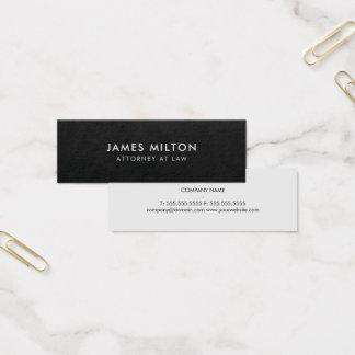 Cartão De Visitas Mini Luz lisa minimalista do preto da textura -