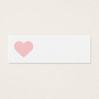 Cartão De Visitas Mini Luz - Tag cor-de-rosa do presente do querido e do