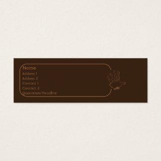 Cartão De Visitas Mini Macaco - magro