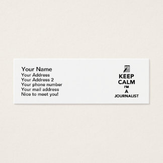 Cartão De Visitas Mini Mantenha a calma que eu sou um journalista