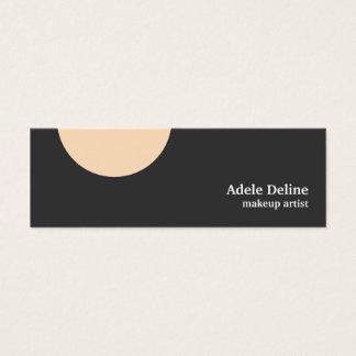 Cartão De Visitas Mini Maquilhador elegante limpo minimalista