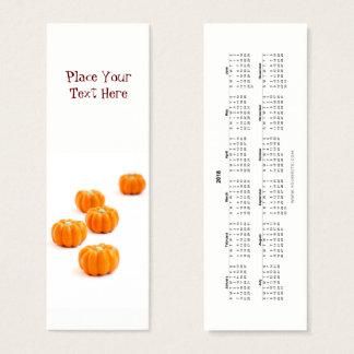 Cartão De Visitas Mini Marcador 2018 dos doces da abóbora do Dia das