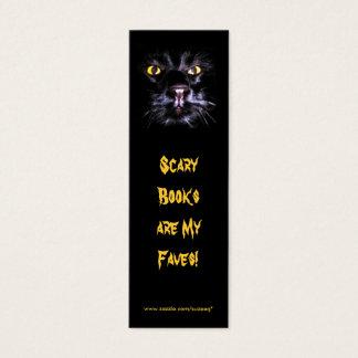 Cartão De Visitas Mini Marcador assustador dos livros
