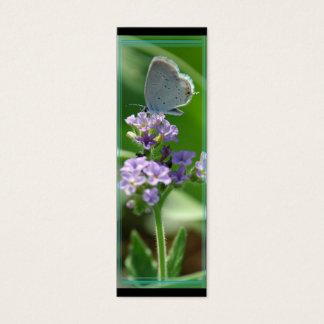 Cartão De Visitas Mini Marcador azul atado oriental da borboleta