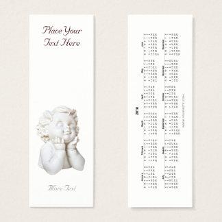 Cartão De Visitas Mini Marcador branco 2018 do anjo