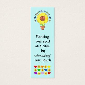 Cartão De Visitas Mini Marcador da paz