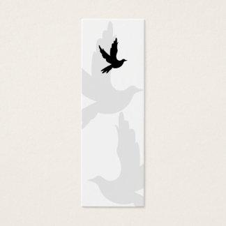 Cartão De Visitas Mini Marcador da silhueta da pomba