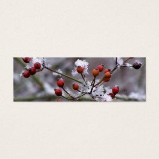 Cartão De Visitas Mini Marcador das bagas do inverno