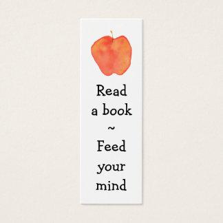 Cartão De Visitas Mini Marcador de Apple da leitura mini -