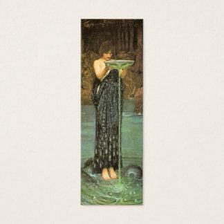 Cartão De Visitas Mini Marcador de Circe Invidiosa por John W. Waterhouse