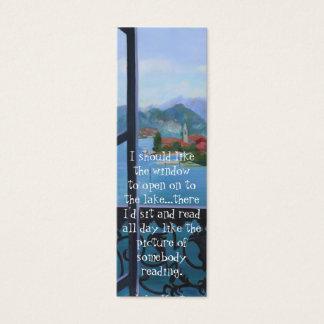 Cartão De Visitas Mini Marcador do balcão
