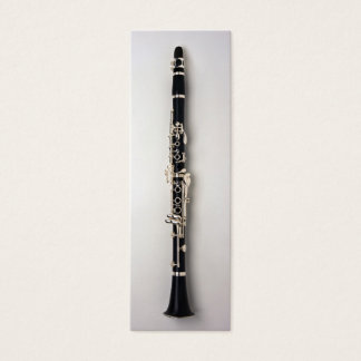 Cartão De Visitas Mini Marcador do clarinete