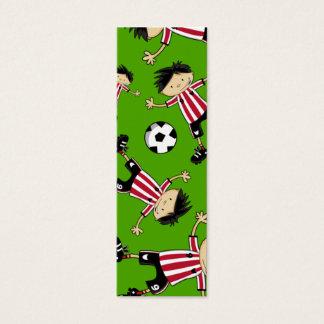 Cartão De Visitas Mini Marcador do futebol do menino do futebol