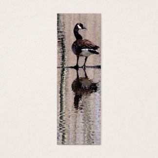 Cartão De Visitas Mini Marcador do ganso de Canadá