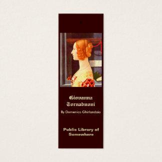 Cartão De Visitas Mini Marcador - Giovanna Tornabuoni