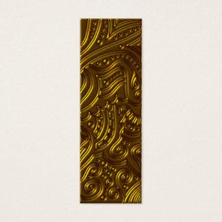 Cartão De Visitas Mini Marcador ou Tag dourado elegante