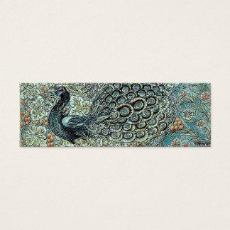 Cartão De Visitas Mini Marcador, pavão de William Morris