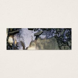 Cartão De Visitas Mini Marcador rochoso do córrego