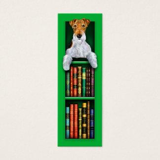 Cartão De Visitas Mini Marcador verde do Fox Terrier do fio