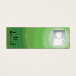 Cartão De Visitas Mini Máscaras verdes do círculo - magros