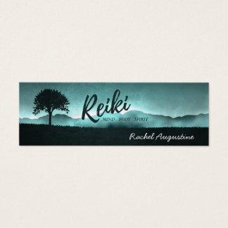 Cartão De Visitas Mini Mestre de Reiki e instrutor naturais da mediação