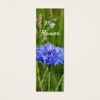 Cartão De Visitas Mini Meu bloco azul bonito do marcador do Cornflower da